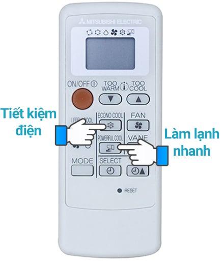 Cách bật chế độ tiết kiệm điện trên máy điều hòa missubishi eclectrric