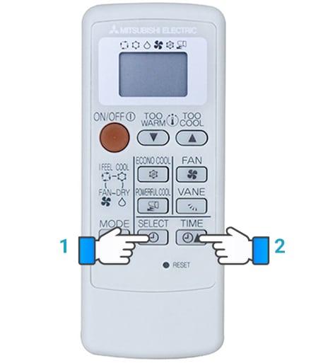 Bật tắt chế độ hẹn giờ trên điều hòa mitsubishi electric