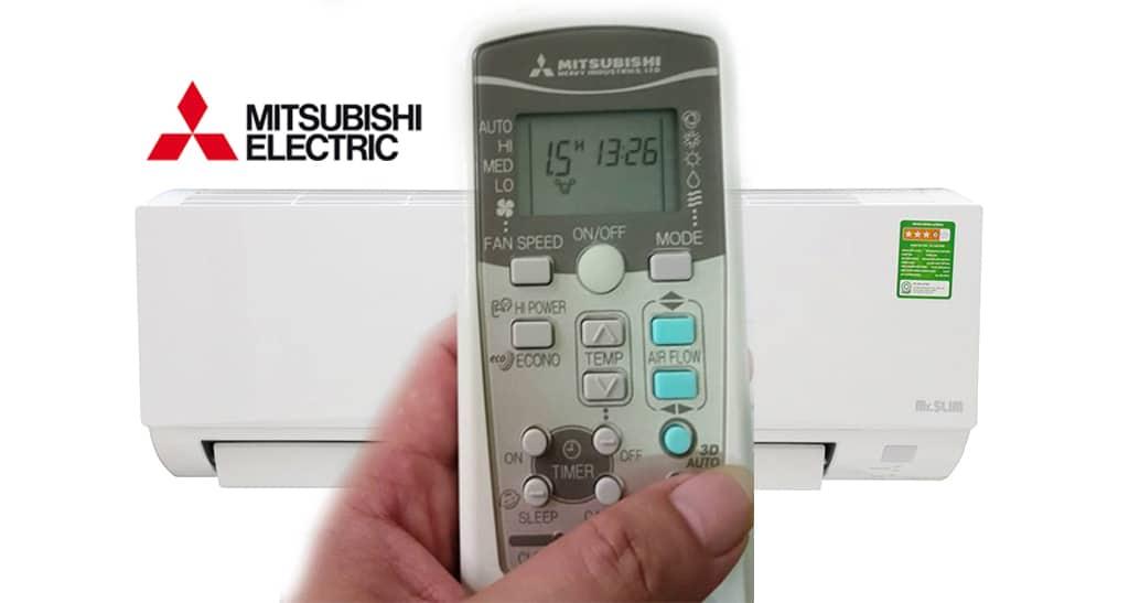 Hướng dẫn cách sử dụng điều khiển điều hòa mitsubishi electric