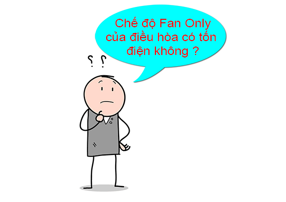 Chế độ Fan Only có tốn điện không