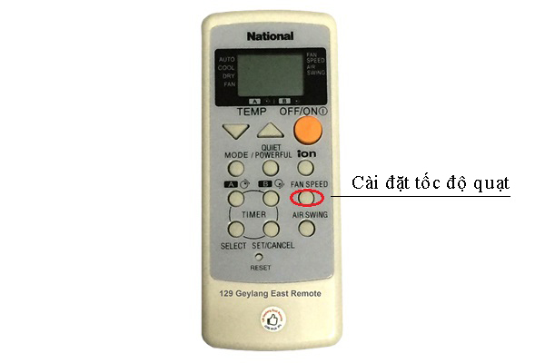 Cach su dung remote may lanh national
