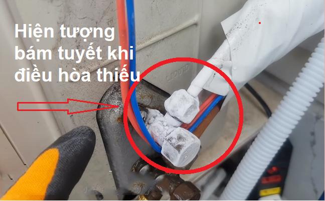 Hiện tượng điều hòa thiếu gas